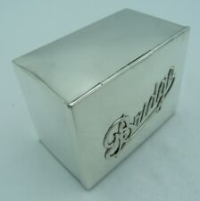More details for edwardian solid silver bridge box - playing cards game antique fall front design