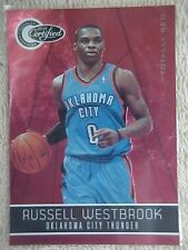 RUSSELL WESTBROOK 2010-11 PANINI TOTALLY CERTIFIED RED CARD #127 023/499