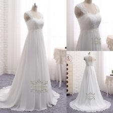 A Line Square Neck Wedding Dresses French Lace Applique Keyhole Back Bridal Gown