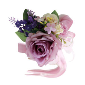 Wedding Car Artificial Silk Flower and Ribbon Party Decoration Dusty Pink New