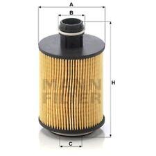 Mann HU7004/1x Oil Filter Element Metal Free 105mm Height 64mm Outer Diameter
