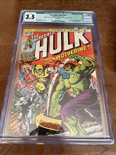 Marvel Incredible Hulk 181 CGC 3.5 Wolverine MVS Missing Cream Off White Pgs