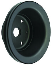SB Chevy SBC Black 1 Groove Long Water Pump Crank Pulley 283 327 350 400 V8 LWP
