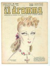 IL DRAMMA N. 369 1942 ANDREINA PAGNANI BRUNETTA HARALD BRATT VITA PRIVATA UOMO
