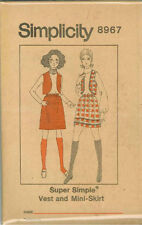 Vintage Chaleco & Mini Falda patrón de costura s8967 Talla 14