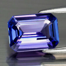 1.52 CT EMERALD CUT NATURAL LAVENDER BLUE TANZANITE, VS