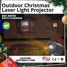 Laser Christmas Lights Projector Red Green Dots Flashing Garden Outdoor Decor
