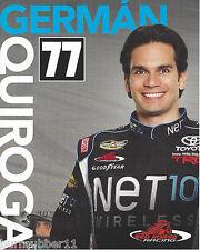 2013 GERMAN QUIROGA NET10 WIRELESS #77 NASCAR CAMPING WORLD TRUCK POSTCARD