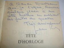 TÊTE D'HORLOGE  Jean Pradeau  avec envoi  à  Claude Bresteau