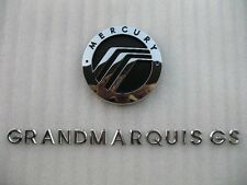03 04 05 06 07 08 09 MERCURY GRAND MARQUIS GS REAR CHROME EMBLEM LOGO BADGE SIGN