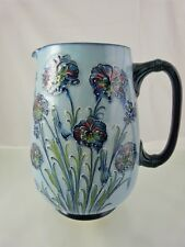 BLUE FLORIAN WARE FLORAL DESIGN WATER OR MILK PITCHER BY MOORCROFT AT MACINTYRE