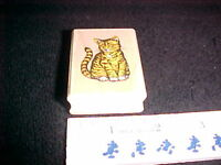 Pretty Kitten Cat Rubber Wood  Mounted Stamp All Night Media NEW