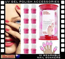 NAIL SOAKER CAPS X10-Wearable for Gel Polish-Acrylic-Soak Off UV Gel Removal