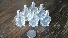 mini vintage glass bottles with cork stoppers (6 heart shape )