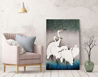 ORIENTAL BIRDS CANVAS WALL ART PICTURE PRINT ARTWORK CRANES JAPANESE