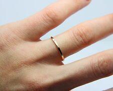 Skinny gold band - 9K Gold wedding band  - thin wedding band -hammered gold ring