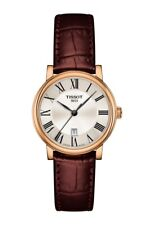 New Tissot Carson Rose Gold-Tone Silver Dial Women's Watch T1222103603300
