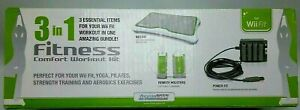 DreamGear DGWII-1159 3-In-1 Fitness Comfort Workout Kit for Wii Fit New Sealed