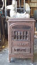 Antique Metal Windsor Wood Burning Stove (Broken Ceramic Box)