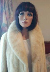 Vintage Genuine Saga Honey Blonde Mink Fur Coat Jacket Size 8-10 & Belt