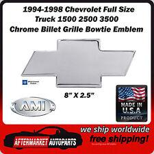 1994-1998 Chevrolet Full Size Truck 1500 Chrome Bowtie Grille Emblem AMI 96017C