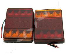 INDICATOR LAMP CARAVAN TRUCK TRAILER STOP REAR TAIL BRAKE LIGHTS 12V 8LED x 2