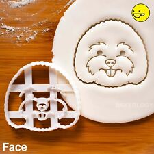 Bichon Frise Face cookie cutter - cute dog portrait birthday party biscuit treat