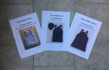 BARGAIN - 3 KNITTING PATTERNS - SUPER CHUNKY GIRLS DRESS TO FIT 0-24 MONTHS