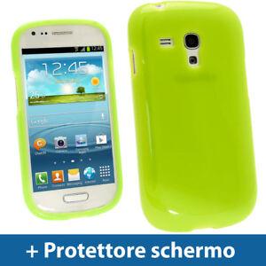 Verde Custodia Lucida TPU Gel per Samsung Galaxy S3 III Mini I8190 Rigida Cover