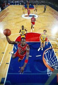 Michael Jordan All Star Dunk Poster 11x17 Chicago Bulls Basketball Nike JS 2