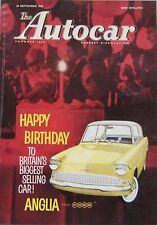 Autocar magazine 30/9/1960 featuring Ford Zephyr road test, Bluebird, Rover
