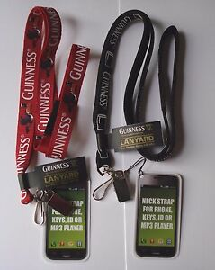GUINNESS LANYARD - RED TOUCAN or BLACK PINT - OFFICIAL MERCHANDISE ID BADGE CARD