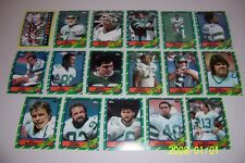 1986 Topps NEW YOEK JETS Complete TEAM Set O'BRIEN Freeman McNeil WESLEY WALKER