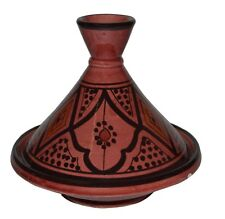 Moroccan Serving Tagine Handmade Ceramic Tajine Dish Exquisite 6 inches Red
