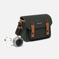 Herringbone Camera Shoulder Mini Bag for Compact DSLR / Accessories (Charcoal)