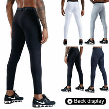 Mens Fitness Compression Tight Base Layer Pants Sports Gym Leggings Joggers