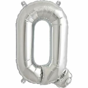 "16"" Silver Letter Q Balloons Inflatable Banner Party Bunting Baloons Decorations"