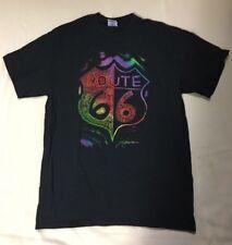 Route 66 T- Shirt Size M Drawing Artist Multi Color Unisex Men Women