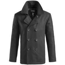 Surplus Cappotto Giacca Stile Uomo Marina Militare invernale Pea Coat  Jacket S Black 63166e664e1