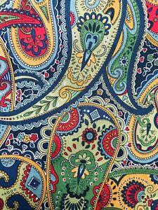 "A Lovely Bright Paisley Liberty Tana Lawn Fabric 13""x 9"""