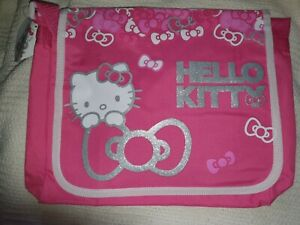 HELLO KITTY Postbag / Messenger/ Shoulder Bag Pink, Silver, White by Sanrio