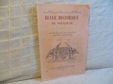 Revue historique de Toulouse études sur le vieux Toulouse 1925 pénitents bleus
