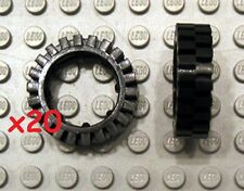 LEGO Mindstorms Technic Black Tire with Offset Tread # 3483 (x20)