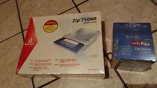 Lecteur IOMEGA ZIP 750 MB atapi Drive neuf blister  + Boite de 10 disk zip Neuf