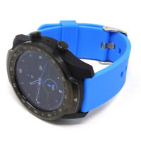 Cinturino silicone 22mm Blu bracciale fibbia per Tic Watch Ticwatch PRO  PHS4