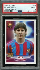 2005 Panini Super Barca #49 Lionel Messi PSA 9 Mint