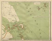 SINGAPORE & DUTCH EAST INDIES Riau islands SUMATRA Malaya DORNSEIFFEN 1902 map