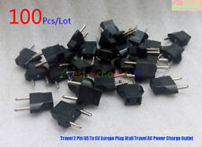 100Pcs/Lot Travel 2 Pin US To EU Europe Plug Wall Travel AC Power Charge Outlet
