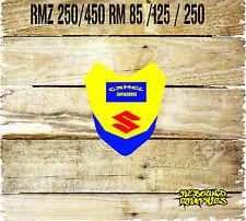 SUZUKI RM 65 85 125 250 RMZ 250 450 Motocross Graphic Front Mudguard Sticker MX