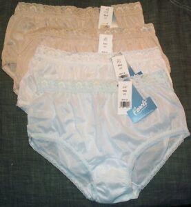 Assorted Size 7 100% Nylon Hip Hugger Pantie W Matching Elastic Lace Hip Hugger
